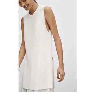 Wilfred palmier tunic sweater off white sleeveless